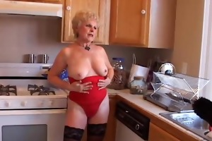 very hot grandma has a soaking juicy snatch