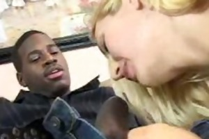 large breasted blond mama receives licked after