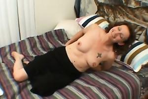 unattractive and oldish mommy disrobes then sucks