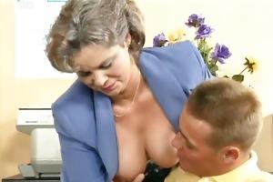 impure old woman getting her bushy snatch