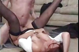 mamas and chaps receive into hardcore stocking sex
