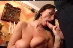 granny with large breasts screwed by servant guy