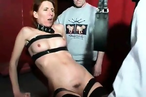 perverted blond wench with hawt body is bound and