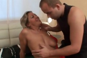 slutty granny sucks cock and acquires screwed