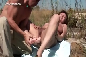 hawt milf receives her hairy muf group-fucked