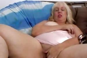older woman fingering alone