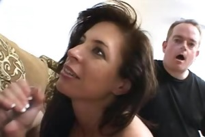 excited mommy go for engulfing tugjob blow job