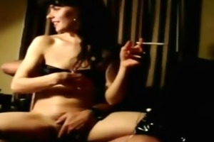 wife smokes with a pecker up her a-hole and