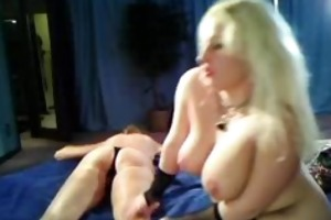 aged blond female-dominant on cam