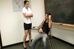 torment tugjob in the classroom