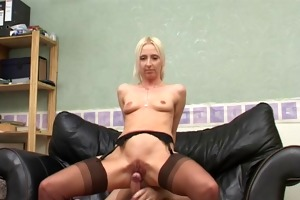 immodest blond british bitch takes it is up her