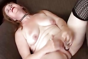 fascinating aged playgirl has a bulky wet pussy