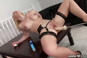 golden-haired mother i and a fuck machine