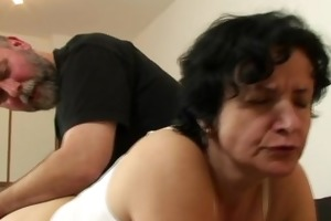 granny acquires her hirsute aperture filled with
