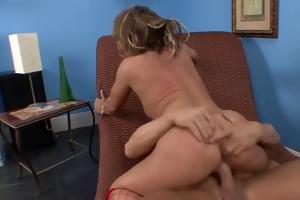 fucks kelly in red nylons