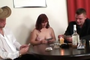 slutty granny playing disrobe poker