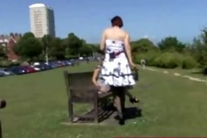 aged lady mother i hunting in the park for