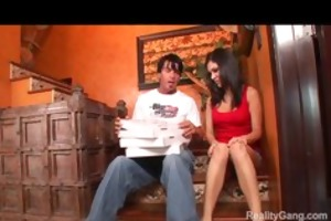 sexually excited bigtit youthful dark brown wench