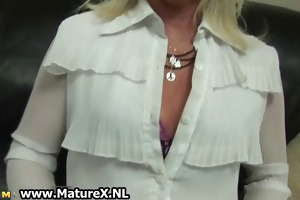 blond aged mamma receives lewd and t live without