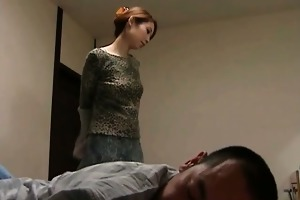 asian wife sucks and copulates boyfriend part4
