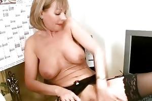 aged office stocking rub