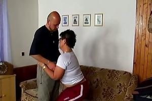 lewd older wife engulfing jock and gets