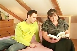 chubby bookworm whore receives pounded by