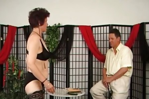 old aged doxy loves punishing during