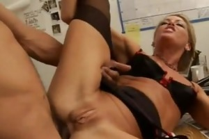 blond d like to fuck wearing high heels does anal