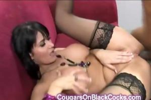 beautiful body brunette hair cougar copulates