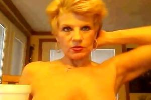 granny on web camera
