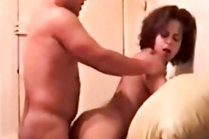 dark brown latina mother i group-sex from behind