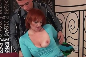 sexually excited grandma receives fisted in