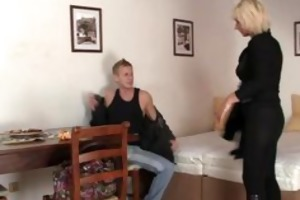 blonde allows him drill her old pussy
