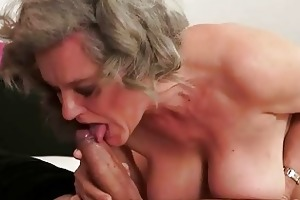 breasty grandma making love with her juvenile
