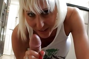 breasty blond momma gives hard ramrod a precious