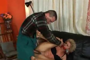 grannt receives fucked into ass