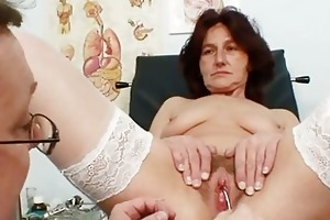 hirsute cookie grandma visits pervy woman doctor