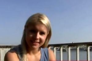 hawt blond filmed by concupiscent older lady