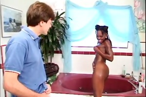 washroom swarthy dark hole fucking interracial