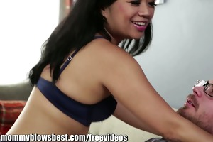 mommyblowsbest stepmom fortunate starr is sucking