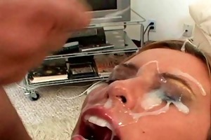 mother i receives giant facual cumshots