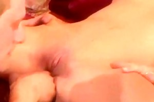 blond girlfriend receives drilled in the living