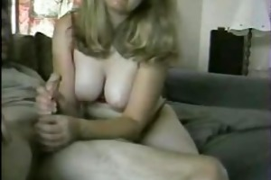 squeezing out his thick, warm cum all over her