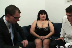 her old overweight cunt acquires nailed by dicks