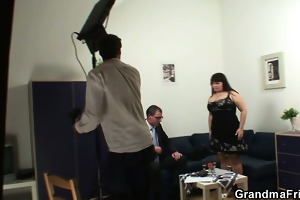 biggest titted floozy acquires lured into 3some