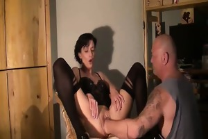 slender dilettante wife brutally fisted in her