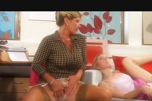 older mama and daughter fucking lad