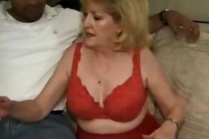chunky grandmother and darksome stud