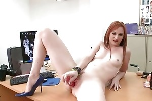 hot redhead milf honey roughly drilled at the